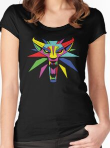 The Witcher (RAINBOW) Women's Fitted Scoop T-Shirt