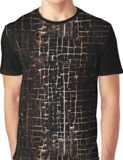 Cracked Grunge Texture Graphic T-Shirt