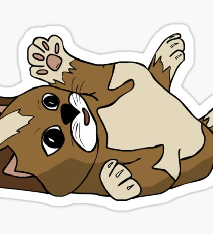 Content kitten Sticker