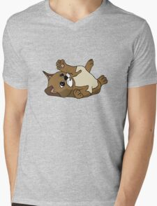 Content kitten Mens V-Neck T-Shirt