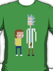 Rick and Morty Pixels  T-Shirt
