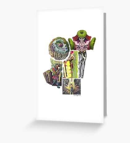 Puzzle People( No Space Shall Be Wasted) Greeting Card