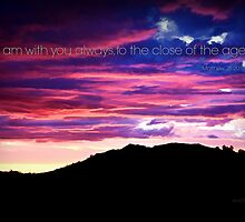 I am with you Always ~ digital paint effect by Sharon Soberon