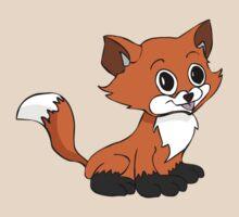 Happy Baby Fox by SlubberBubArt