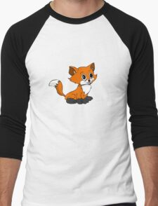 Happy Baby Fox Men's Baseball ¾ T-Shirt