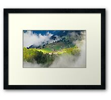 Morning sun in Switzerland Framed Print