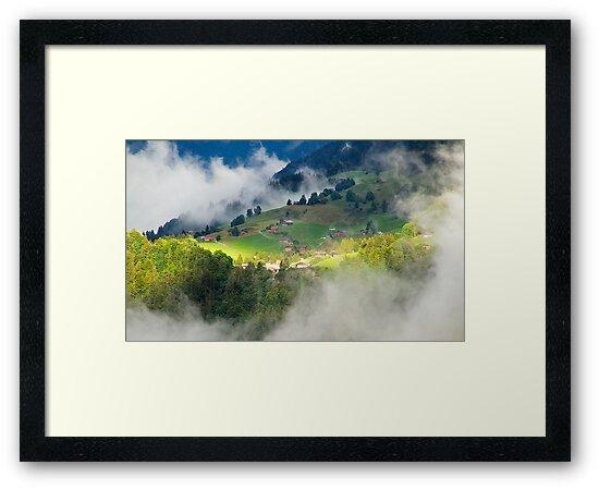 Morning sun in Switzerland by Alan Robert Cooke
