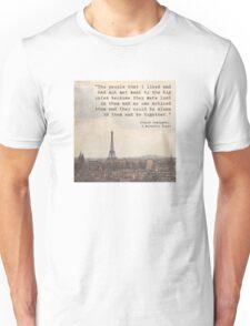 Hemingway in Paris Unisex T-Shirt