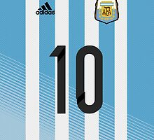 World Cup 2014 - Argentina Messi Shirt Style by Maximilian San