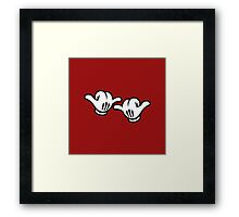 Mickey Hands Thumbs up Framed Print