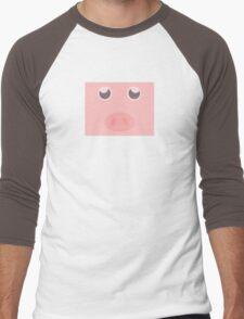 Look how cute this pig is Men's Baseball ¾ T-Shirt