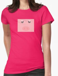 Look how cute this pig is Womens Fitted T-Shirt