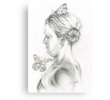 She loves her Butterflies Canvas Print
