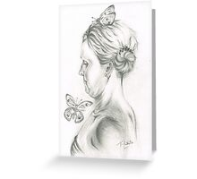 She loves her Butterflies Greeting Card