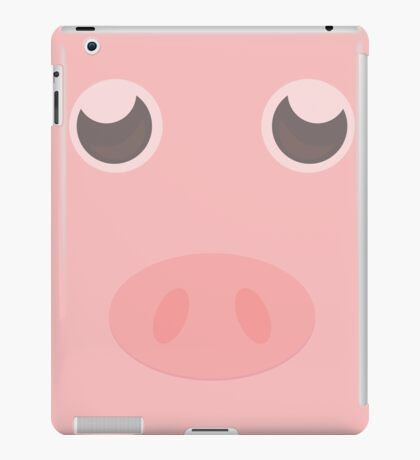 Look how cute this pig is iPad Case/Skin