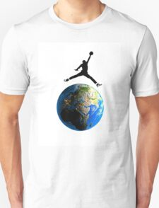 Jordan Jumping over Earth Unisex T-Shirt