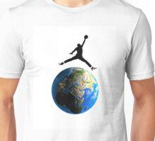 Jordan Jumping over Earth Unisex T-Shirt