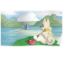 Radio Pup's Ocean Morning Poster