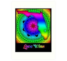 Love Wins - Florida Art Print