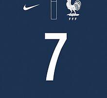 World Cup 2014 - France Ribery Shirt Style by Maximilian San