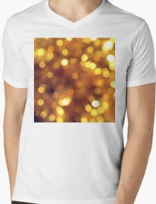 Abstract background with bokeh Mens V-Neck T-Shirt