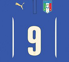 World Cup 2014 - Italy Balotelli Shirt Style by Diego Tirigall