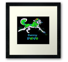 furry rave husky Framed Print