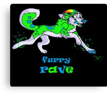 furry rave husky Canvas Print