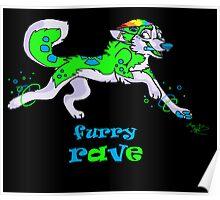 furry rave husky Poster
