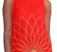 Golden Lotus Contrast Tank