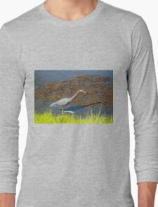 Little Blue Walking Slowly  Long Sleeve T-Shirt