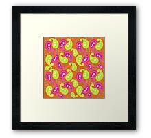 Bright Modern Flowery Paisley Patterned Framed Print