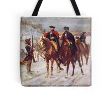 Washington and Lafayette at Valley Forge Tote Bag