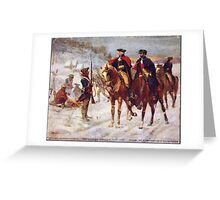 Washington and Lafayette at Valley Forge Greeting Card
