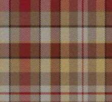 02586 York County, Pennsylvania Fashion Tartan  Sticker