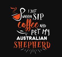 Quirky Australian Shepherd Design Unisex T-Shirt