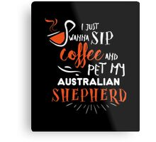 Quirky Australian Shepherd Design Metal Print