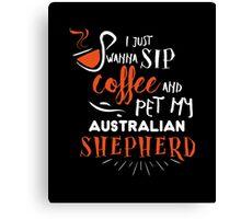Quirky Australian Shepherd Design Canvas Print