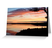 Winter Sunset on the Bras d'Or Greeting Card
