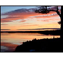 Winter Sunset on the Bras d'Or Photographic Print