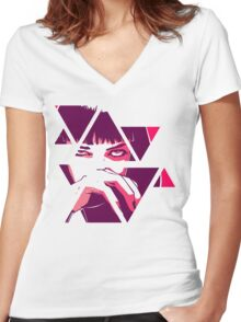 Mia Wallace - Pulp fiction Women's Fitted V-Neck T-Shirt