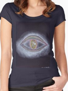 Trippy Eye Women's Fitted Scoop T-Shirt