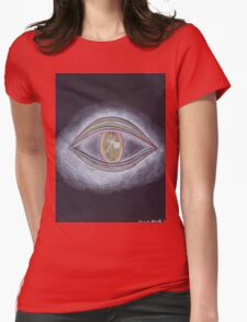 Trippy Eye Womens Fitted T-Shirt
