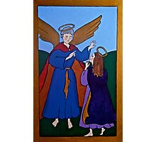 Mary and the Angel Photographic Print