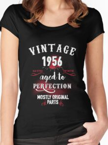 1956 Aged to Perfection, Mostly Original Parts Women's Fitted Scoop T-Shirt