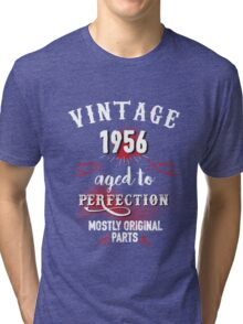 1956 Aged to Perfection, Mostly Original Parts Tri-blend T-Shirt
