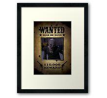 Buffy Ubervamp Vampire Wanted Framed Print