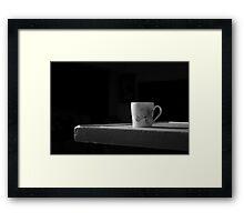 Late night tea Framed Print