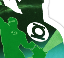 JLA: Hal Jordan Green Lantern Minimalist Comics Justice League of America Sticker