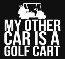Car Golf Cart by Alan Craker